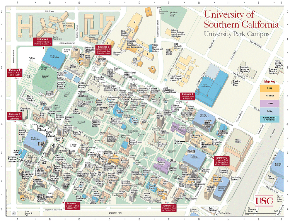Usc Parking Map lax travel   twccc